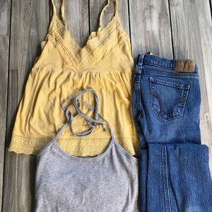 Bundle- 2 Shirts and Hollister Blue Jeans